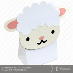 K Crafts, Crafts For Kids, Paper Crafts, Diy Easter Cards, Sheep Cards, Baby Sheep, Machine Applique, Childrens Party, Favor Boxes