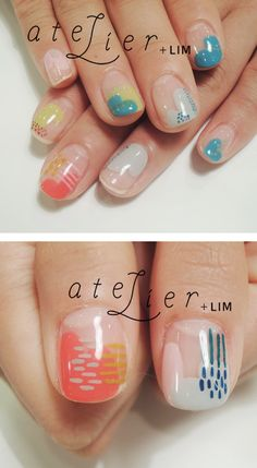 So doing this. I love the bare manicures it gives your nails a nice clean look