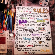 Funny college canvas I made for our apartment kitchen 2019 Funny college canvas I made for our apartment kitchen The post Funny college canvas I made for our apartment kitchen 2019 appeared first on Apartment Diy. College Living Rooms, College House, College Apartments, College Dorm Rooms, College Fun, Funny College, College Parties, College Girl Apartment, College Crafts