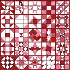 nine patch sampler quilt templates - LOVE these...I have several sets