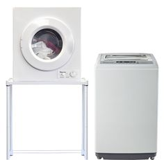 Magic Chef 2.1 Cu Ft Compact Portable Washer Dyer Combo Set 120 Volt