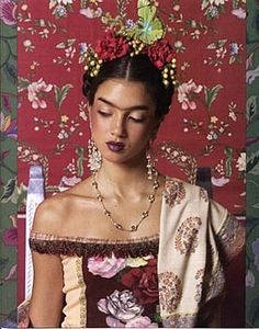 Frida-inspired...like a Balinese dancer-princess***<3***