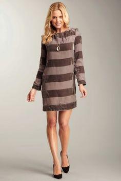 Cute for winter.  Jessica Simpson Stripe Sheath Dress