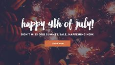 Set of fireworks in your online store with this 4th of July sale graphic. Download free from Volusion!