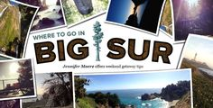 Big Sur has been my happy place since my college days, when I would drive down Highway 1 from Santa Cruz to soak up all the hippie nature stuff there night baths at Esalen, backpacking trips to Sykes…