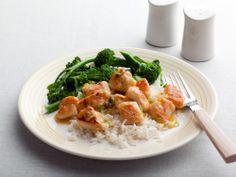 Better than takeout! Lemon Chicken from FoodNetwork.com Serve with steamed broccoli and rice