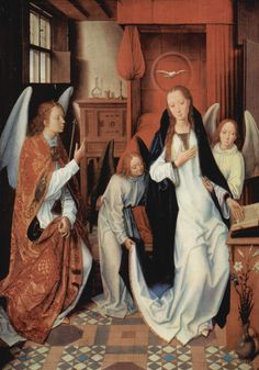 The Annunciation by @artistmemling #northernrenaissance