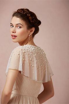 Scattered Pearl Capelet from BHLDN