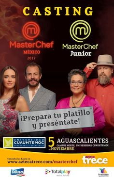 Casting  Master Chef. - https://www.enterateaguascalientes.com/casting-master-chef
