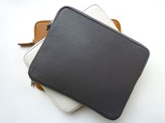Love your ipad? Protect it - now available in our most popular elephant colored pebble grain leather…