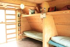 Bunks in an A-Frame