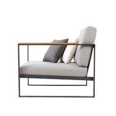 Röshults - Garden Easy Sessel  - anthrazit/Sunbrella/Bezug grau/ohne Dekokissen