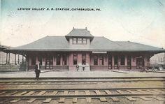 Lehigh Valley Railroad Station in Catasauqua PA 1910 | eBay