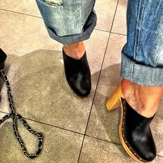 Jeans + tamancos / look para o almoço de hoje! #estiloandreafialho