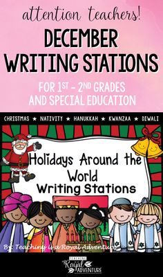 This multi-page December Writing Stations packet is the perfect addition to your Daily 5 stations. The themes included are: Christmas, Nativity, Hanukkah, Kwanzaa, and Diwali. Perfect for ESL, homeschool, special education, preschool, kindergarten, first grade, second grade and third grade. Click to download now. #firstgrade #secondgrade #kindergartenteacher #earlylearning #homeschool #specialeducation