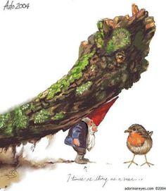 """ i love gnomes, trolls & fairies! Woodland Creatures, Magical Creatures, Children's Book Illustration, Illustrations, David The Gnome, Trolls, Dutch Artists, Mythological Creatures, Gnome Garden"