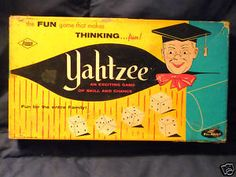 Vintage Yahtzee.  One of my absolute favorites!  Would play it for hours.