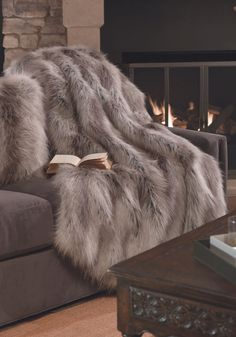 Silver Fox Limited Edition Faux Fur Throws