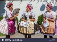 Download this stock image: Women in folk costumes, Velke Pavlovice, South Moravia, Czech Republic, Europe - F26TA6 from Alamy's library of millions of high resolution stock photos, illustrations and vectors.