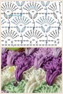How to Crochet a Side Saddle Stitch Poncho Crochet, Puff Stitch Crochet, Crochet Stitches Free, Crochet Squares Afghan, Crochet Motifs, Granny Square Crochet Pattern, Crochet Diagram, Crochet Chart, Stitch Patterns