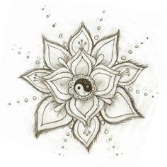 Yin Yang Flower by Skysage.deviantart.com on @deviantART