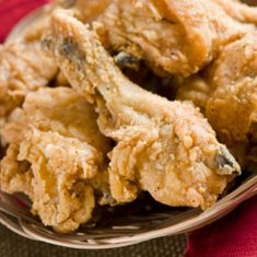 KFC Fried Chicken 1 Broiler fryer – cut up 3 C. Water 1 Tbsp. Salt 1 tsp. MSG 2 tsp. Onion Powder 2 pkg. DRY Instant Chicken Broth (Do Not Use Canned) 2 tsp. Seasoned Salt 1 tsp. fines herbs 1/2 tsp. Black Pepper 1 C. Flour