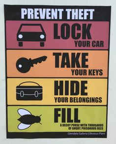 Prevent Theft - Do your part