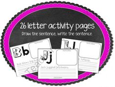 Aa-Zz Draw the Sentence, Write the Sentence pages from EasyPeasyLemonSqueezy on TeachersNotebook.com -  (27 pages)  - Each page contains the letter in uppercase and lowercase, a sentence to write containing words with the given letter and a space to draw a picture of the sentence. 26 pages Aa-Zz
