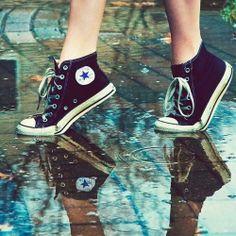 converse in the rain