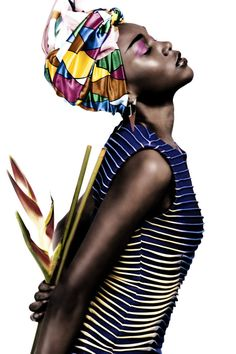 'Cecile' by Giuseppe Cardone. #Editorial #Turban #Headwrap #AfricanFashion #AfricanStyle #Beauty #Fashion #Style @Ethical Fashion Initiative