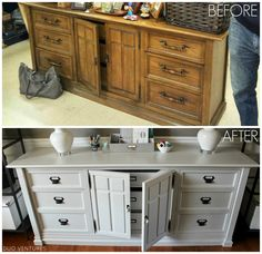 Duo Ventures: [Before & After] Dresser Furniture, Paint Furniture, Furniture Projects, Furniture Makeover, Furniture Design, Diy Projects, Furniture Arrangement, Repurposed Furniture, Diy Woodworking