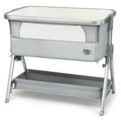 The adjustable bedside crib is constructed of heavy-duty frame and quality soft fabric to provide your baby with a comfortable and stable environment for sleeping. Add a co-sleeper to your bedside. Let your baby sleep with you safely and soundly. No matter you are sitting on the sofa or lying on the bed, with our height-adjustable co-sleeper, you can always find a suitable position to play with your baby! The easily movable bassinet enables your baby to stay by your side when you are…
