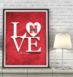"""""""Love"""" ART PRINT. I want to make this just need to replace the heart with the UNO """"O"""" logo"""