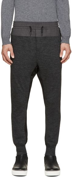 Wooyoungmi - Grey Panelled Lounge Pants