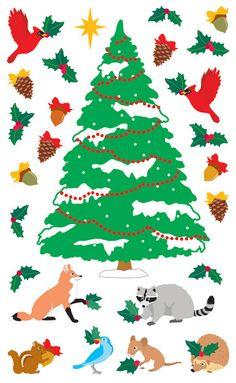 Mrs. Grossmans > Holidays > Woodland Christmas Stickers - Mrs. Grossmans: Stickers Galore