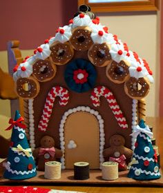 Gingerbread house de fieltro