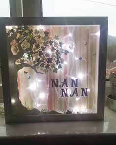 """""""Slowly making my way through family presents! This is for my little girl's great nanna, who she calls Nan Nan. 2 more to do then I'm putting my feet up!…"""""""