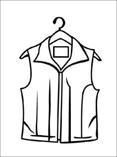 Vest kleurplaat voor print | Gratis kleurplaten