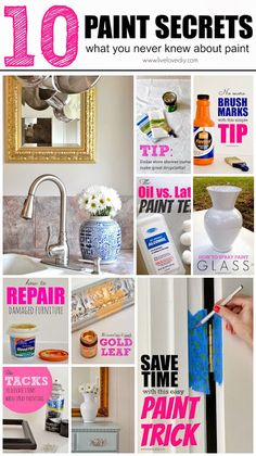 10 Paint Secrets: what you never knew about paint. Great tips for saving time AND money!