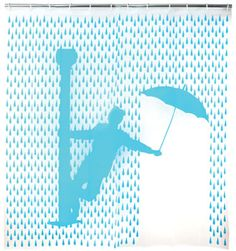 This Singing in The Rain Shower Curtain pays homage to the classic Gene Kelly musical comedy. But you wont be singing in the rain, youll be singing in the shower. Clouds And Rain, Funky Shower Curtains, Curtains Hooks, Parasols, Singing In The Rain, Rain Shower, Shower Time, Weird And Wonderful, Bath Decor