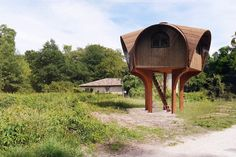 The summer hiking season is in full swing in Europe and now there is a new place to rest on your travels. The UK-based architecture firm Studio Weave, working with the Bruit du Frigo collective, has recently built this lovely hiking shelter near Bordeaux, France. The structure is raised off the ground and rests atop a weathered steel platform. And anyone can stay in it for free. The shelter is named Le Haut Perché and…
