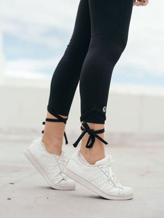 Black Tie, Snug Fit, Stretch Fabric, Sporty, Leggings, Elegant, Sneakers, Collection, Fashion