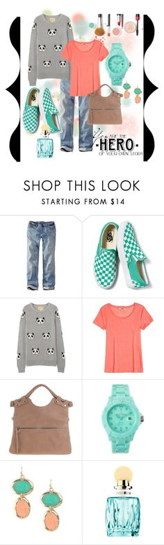 """""""Panda Face"""" by thebeautyko ❤ liked on Polyvore featuring Eddie Bauer, Vans, Wildfox, Calypso St. Barth, Toy Watch, WALL and Miu Miu"""