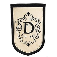 Monogram Estate Size Flag  D >>> Read more reviews of the product by visiting the link on the image. (This is an affiliate link) #GardeningAccessories