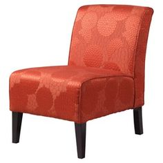 Linon Home Decor Lily Slipper Chair In Matelesse Burnt Orange - Beyond the Rack Armless Accent Chair, Accent Chairs, Burnt Orange, Living Room Furniture, Home Furniture, Funky Furniture, Furniture Ideas, Furniture Inspiration, Orange Accent Chair