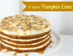 4 layer pumpkin cake. mmmm