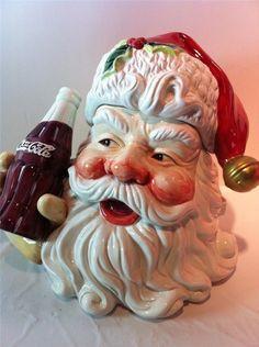Coca-Cola/Cracker Barrel 2001 Santa Cookie Jar: Coca Cola Santa, Coca Cola Christmas, Christmas Cookie Jars, Coca Cola Bottles, Pepsi Cola, Coca Cola Decor, Antique Cookie Jars, Coca Cola Kitchen, Cocoa Cola