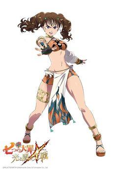 Game : Nanatsu no Taizai Hikari to Yami no Grand Cross. Seven Deadly Sins Anime, 7 Deadly Sins, Otaku Anime, Manga Anime, Female Characters, Anime Characters, Seven Deady Sins, 7 Sins, Anime Comics