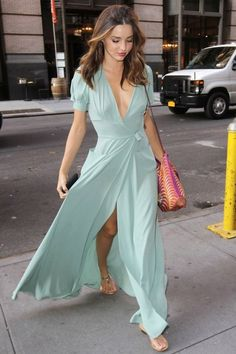 Miranda Kerr in a stunning maxi dress