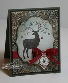Vintage Christmas Deer by Crazy4Stampin - Cards and Paper Crafts at Splitcoaststampers